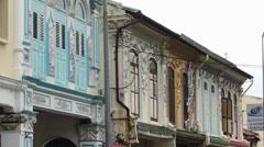 Melaka Malacca Unesco Chinatown traditional old houses Malaysia Asia Stock Footage