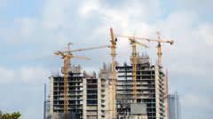 Building Under Construction, Timelapse Stock Footage