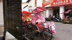 Melaka Malacca Unesco Chinatown tourists at Capitol Sata restaurant Malaysia Stock Footage