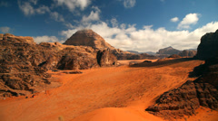 Wadi Rum desert, Jordan Stock Footage