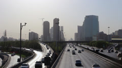 overpass and highway,Beijing - stock footage