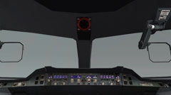 Aircraft cockpit,high-tech dashboard,Pilots operating plane. Stock Footage