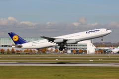Lufthansa airbus a340-300 Stock Photos