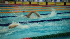 Sport swimming in the pool Stock Footage
