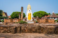 Big buddha statue in thailand Stock Photos