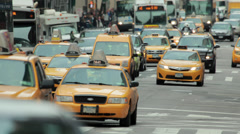 Cars traffic in New York City street 5th avenue Stock Footage