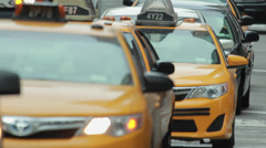 Cars traffic in New York City street 5th avenue - stock footage