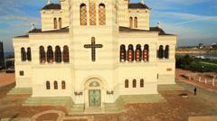 Aerial View: The Church of Saint Volodymyr, Sevastopol, Crimea. Stock Footage