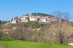 Village of Stanjel, Slovenia, Europe. Stock Photos