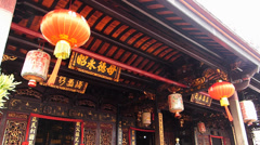 Melaka Malacca Unesco Chinatown Cheng Hoon Teng temple Malaysia Asia Stock Footage