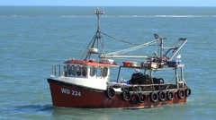 Lobster Fishing Boat Stock Footage