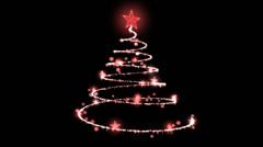 Rotating Christmas Tree Illustration - Loop Stock Footage