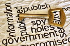 Publish spy key concept Stock Photos