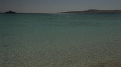 Panoramic view of a beach on Giftun Island, Hurghada, Egypt Stock Footage
