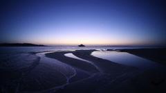 Blue sunrise on the sea from Giftun Island near Hurghada, Egypt Stock Footage