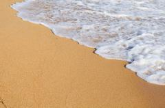 soft wave of the sea - stock photo