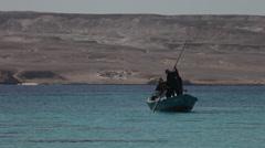 Fishermen on Giftun Island, Hurghada, Egypt Stock Footage