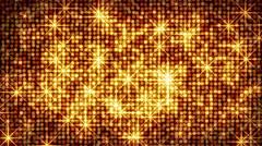 shiny gold circles and stars loop - stock footage