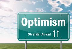 Highway signpost optimism Stock Illustration