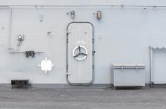 iron door warship - stock photo