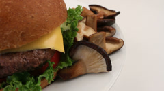 Delicious Bison Burger Stock Footage