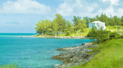 Southern Coast Line of Bermuda Stock Footage