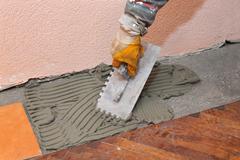 Home renovation, tiles Stock Photos