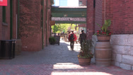 Stock Video Footage of Toronto distillery district on a sunny afternoon