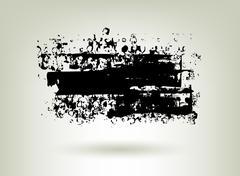 black ink grunge banner - stock illustration