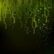 Abstract green lights background. - stock illustration