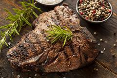 Grilled bbq t-bone steak Stock Photos