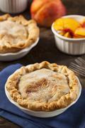 mini peach pie dessert - stock photo