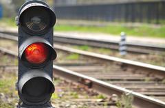 Railway semaphore Stock Photos