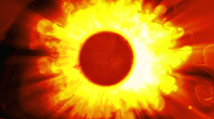 Blazing Sun in Space 2 Stock Footage