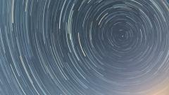 North star trails 6 hour time lapse HD Stock Footage