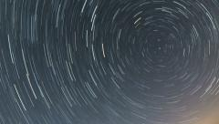 North star trails 6 hour time lapse 4K ultra HD Stock Footage