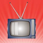 old television - stock illustration