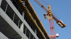PRAGUE, CZECH REPUBLIC - MARCH 2014: Building construction Stock Footage