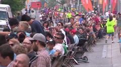 Kitchener Ontario world record largest picnic Stock Footage