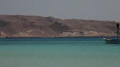 Fishing boat near Giftun Island, Hurghada, Egypt Stock Footage