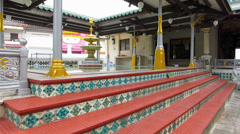 Melaka Malacca Unesco Chinatown Kampung Kling Mosque Malaysia Asia Stock Footage