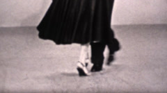 Vintage 16mm dancing instruction Stock Footage