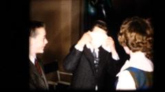 50's  vintage, School dance party Stock Footage