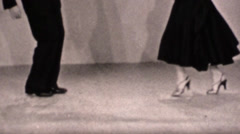 Vintage 16mm dancing instruction - stock footage