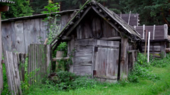 Old country yard Stock Footage
