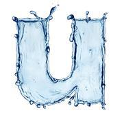 Letter of water alphabet Stock Illustration