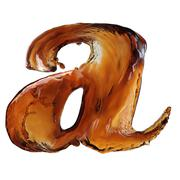 Cola splash letter Stock Illustration