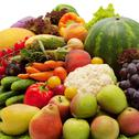 Stock Photo of fresh vegetables, fruits and other foodstuffs.