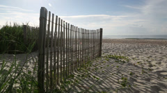Beach fence, Brunswick County NC Stock Footage