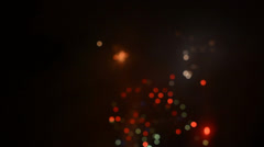 Detonating fireworks (firecrackers) to celebrate the new year - blur background - stock footage